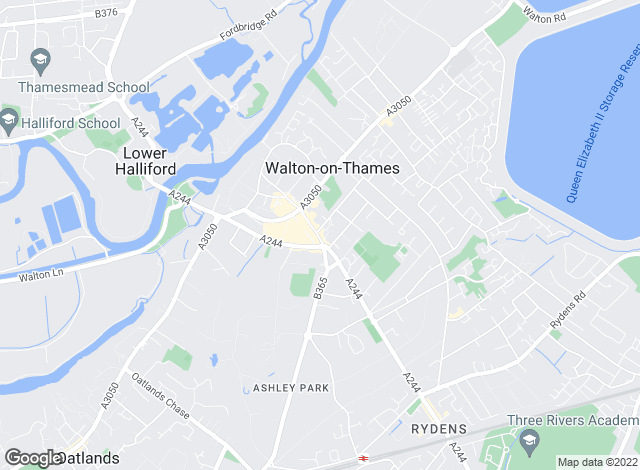Map for Harmes Turner Brown, Walton On Thames