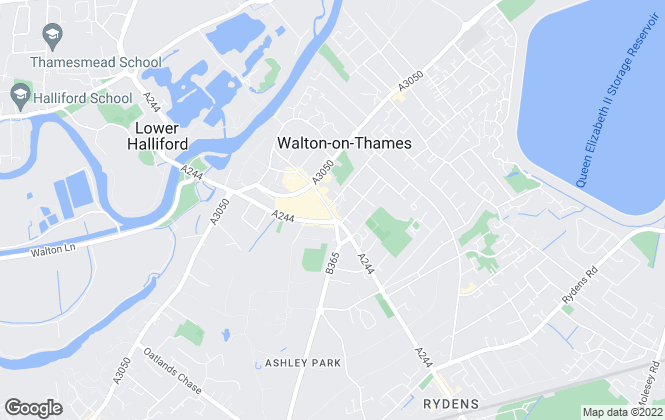 Map for Gascoigne-Pees, Walton-On-Thames