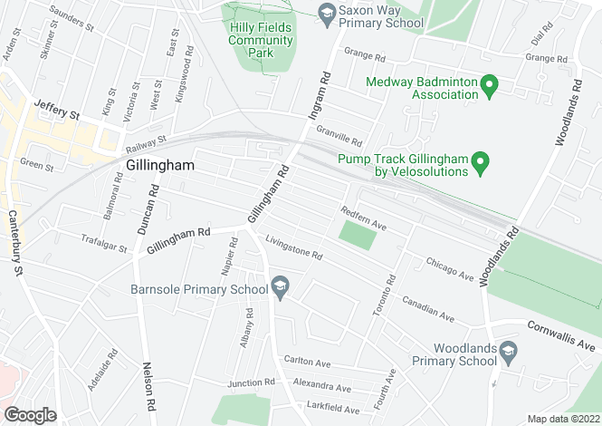 Map for Priestfield Road, GILLINGHAM, Kent