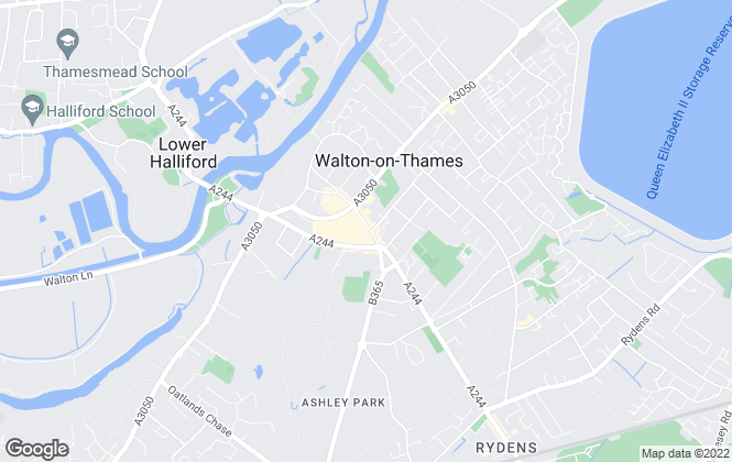 Map for James Neave - The Estate Agent, Walton On Thames