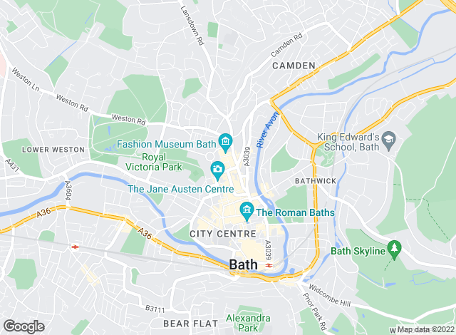Map for Touchstone Residential Lettings, Bath