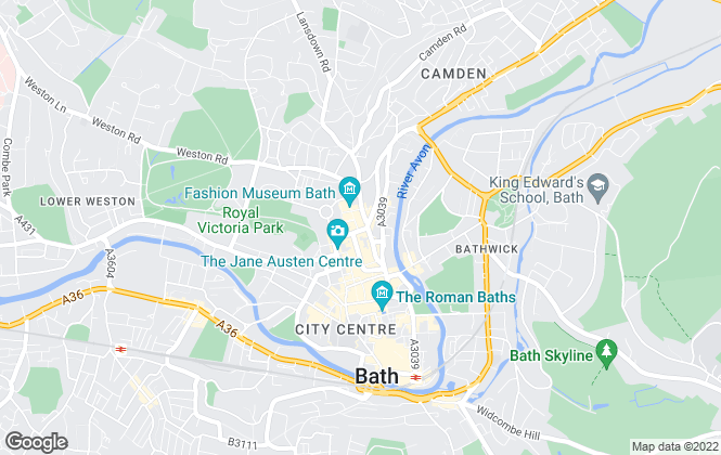 Map for Allen & Harris, Bath
