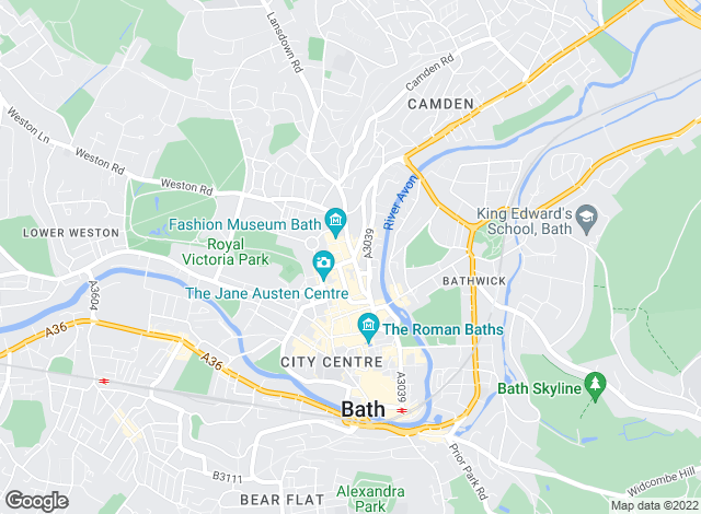Map for Andrews Lettings and Management, Bath Central