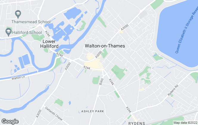Map for Martin Flashman & Co., Walton-on-Thames
