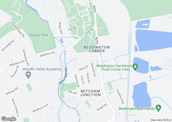 Map for Oakdale Way, Mitcham, CR4