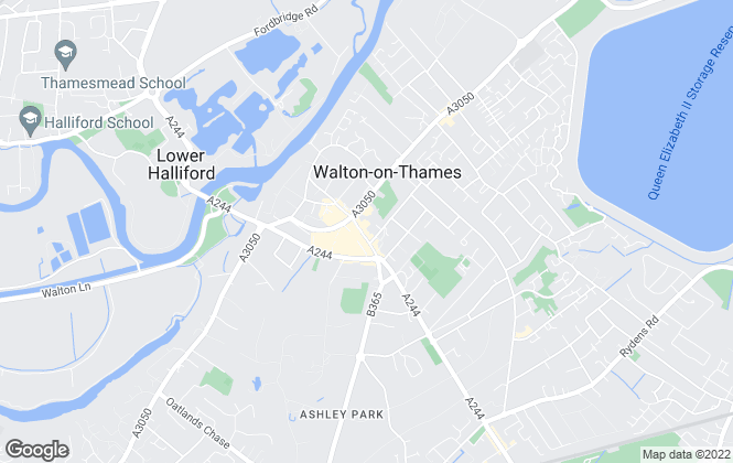 Map for Martin Flashman & Co., Walton-on-Thames