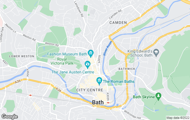 Map for Premier Lettings, Bath