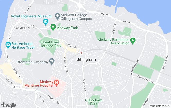Map for YOUR MOVE, Gillingham