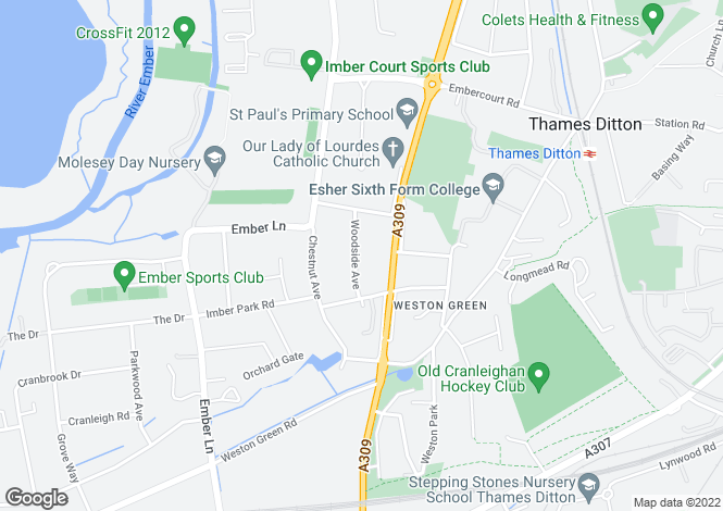 Map for Woodside Avenue,