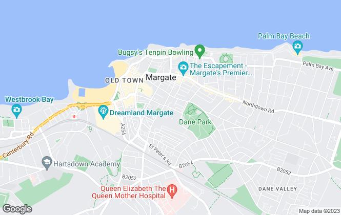 Map for John Oki & Sons (Thanet Windscreens), Margate