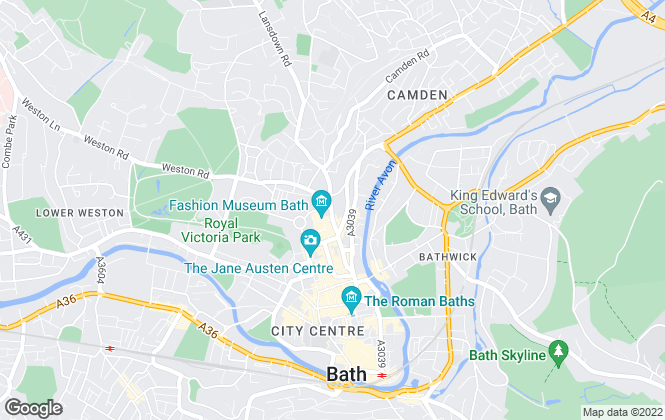 Map for West Of England Inc Tangerine, Bath