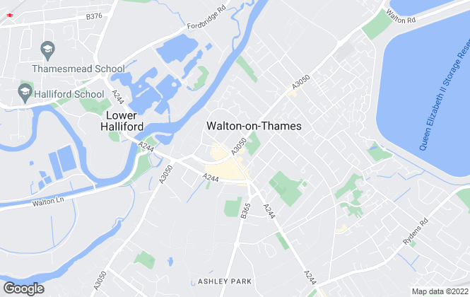 Map for Arthur Samuel Estate Agents, Walton on Thames