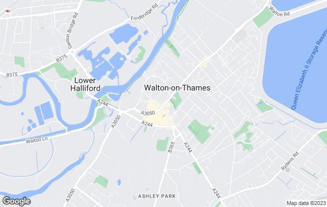 Map for Arthur Samuel Estate Agents, Walton on Thames