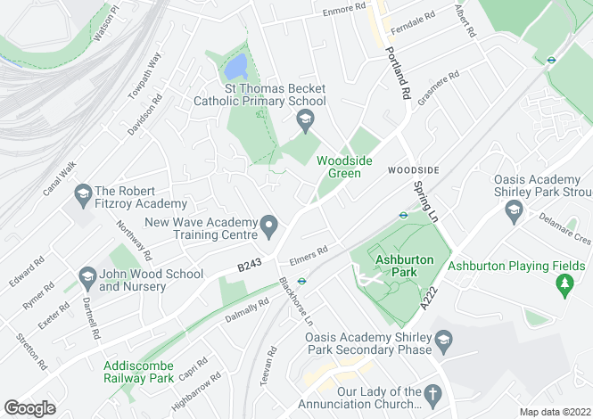 Map for Woodside Green,