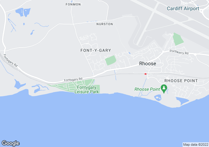 Map for Fontygary Road, Rhoose