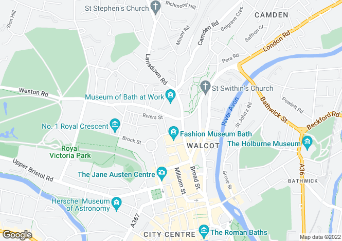 Map for Brunswick Place, Bath