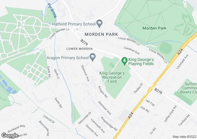 Map for Aragon Place, Aragon Road, Morden