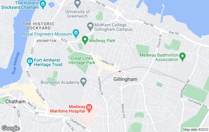 Map for Mann Countrywide, Gillingham