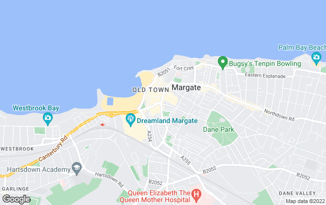 Map for Appleton, Margate