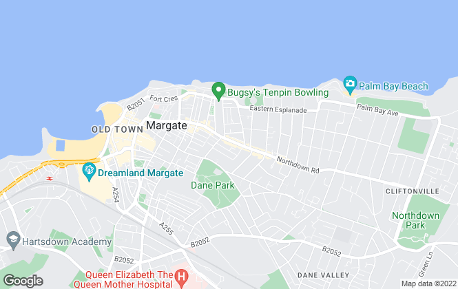 Map for Thomas Jackson, Margate
