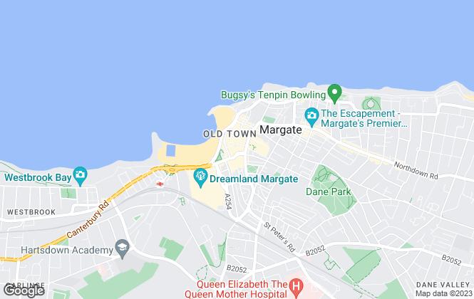 Map for Oakwood Homes, Margate