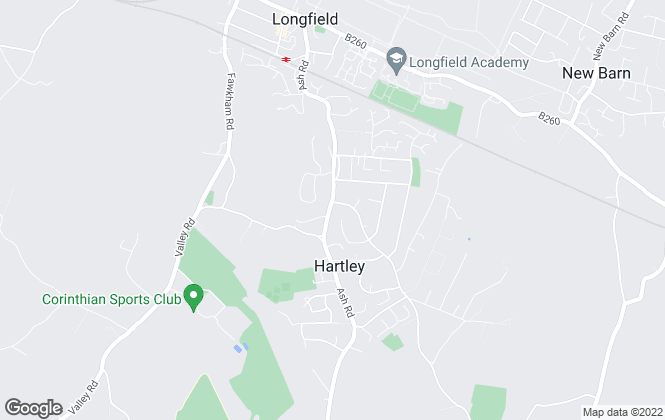 Map for New Ash Green Letting Company Ltd, Hartley