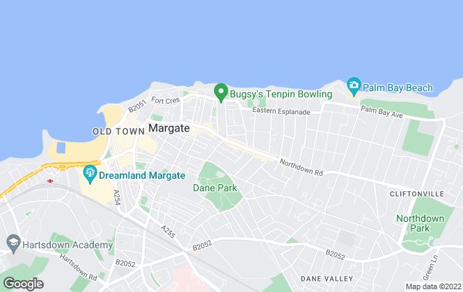 Map for Thomas Jackson, Margate - Lettings