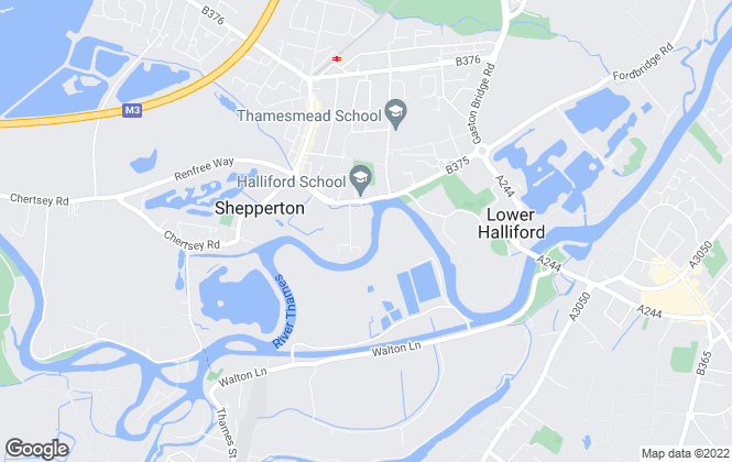 Map for Waters Edge Homes Limited, Shepperton