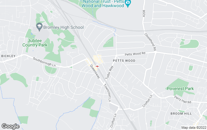 Map for Proctors, Petts Wood