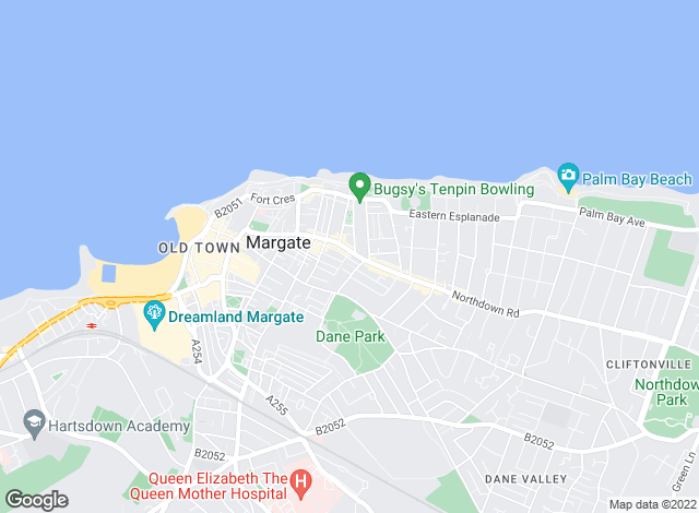 Map for Milton Ashbury, Margate