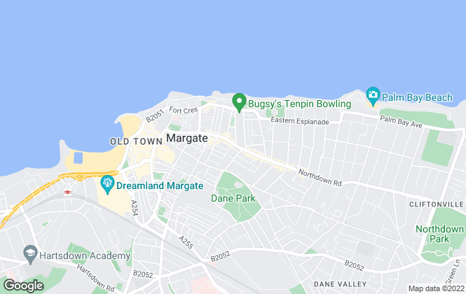 Map for Milton Ashbury Estate Agents, Margate
