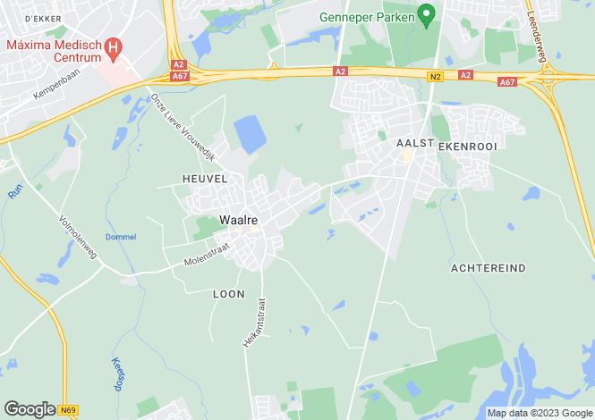 Map for Noord-Brabant, Waalre