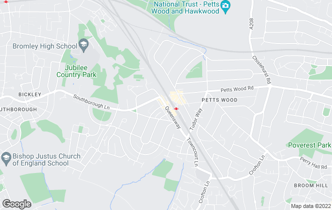 Map for Sinclair Hammelton , Petts Wood