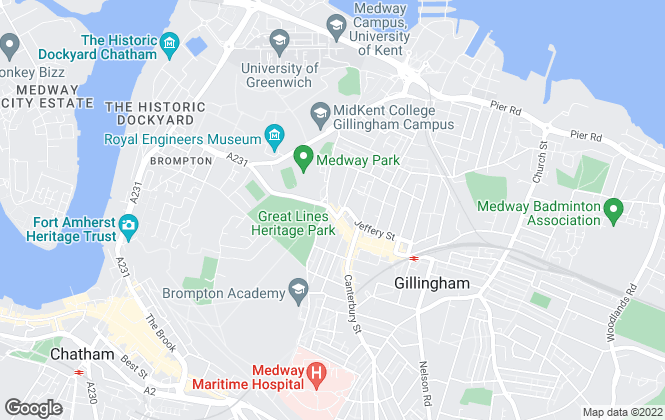 Map for Century Residential Sales & Lettings, Gillingham - Lettings