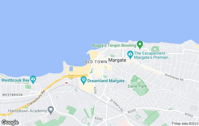 Map for Mann Lettings, Margate