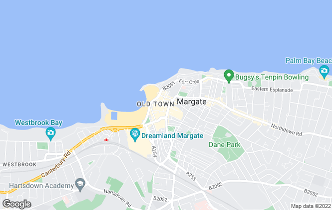 Map for My 4 Walls, Margate