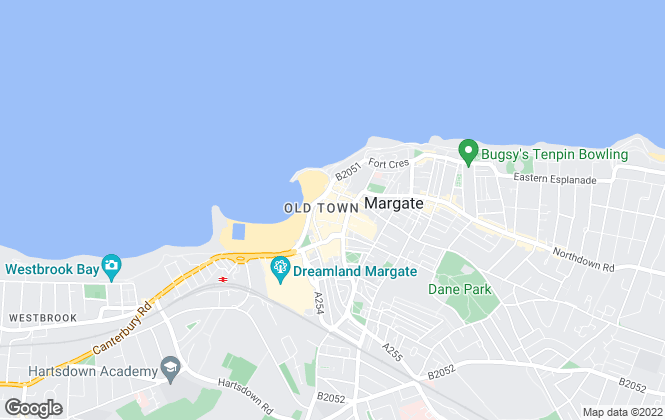 Map for Mann Lettings, Margate