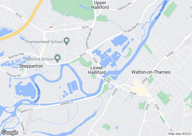 Map for Sherbourne Gardens, Shepperton, Surrey, TW17