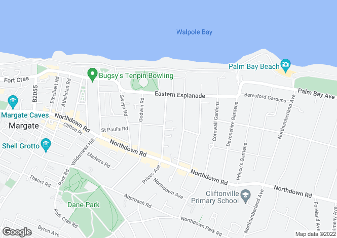 Map for Harold Road, Cliftonville, Margate CT9