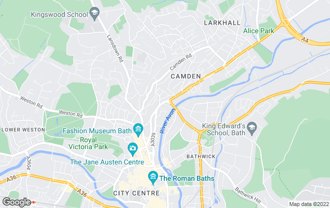 Map for Martin & Co, Bath - Lettings & Sales