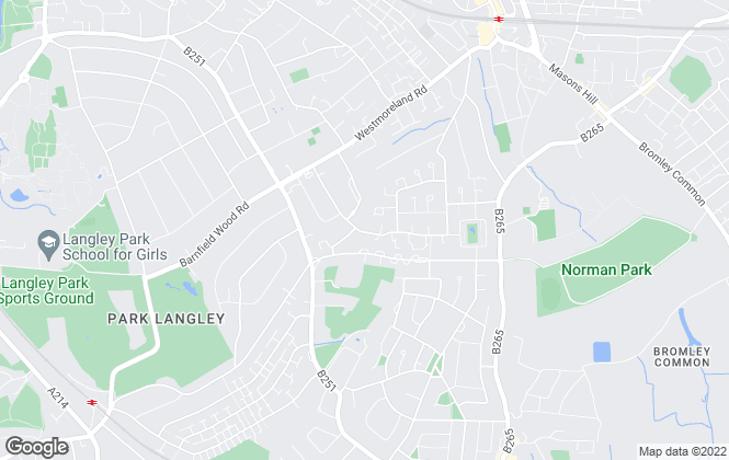 Map for Macks Properties Ltd, Bromley