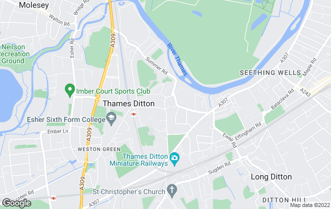 Map for HJC , Thames Ditton