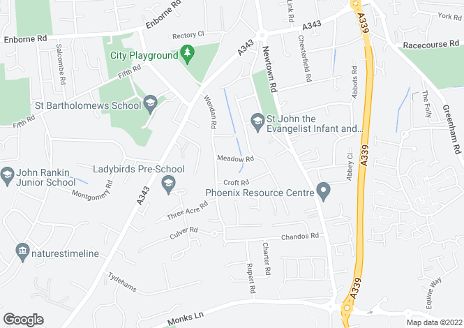 Map for Meadow Road, Newbury, RG14 7AH