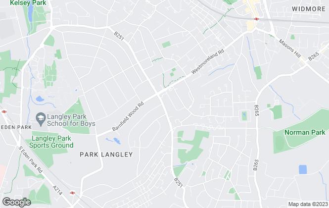 Map for Proctors, West Wickham