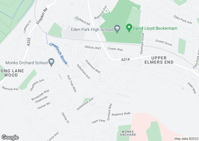 Map for Aviemore way, Beckenham, Kent, BR3