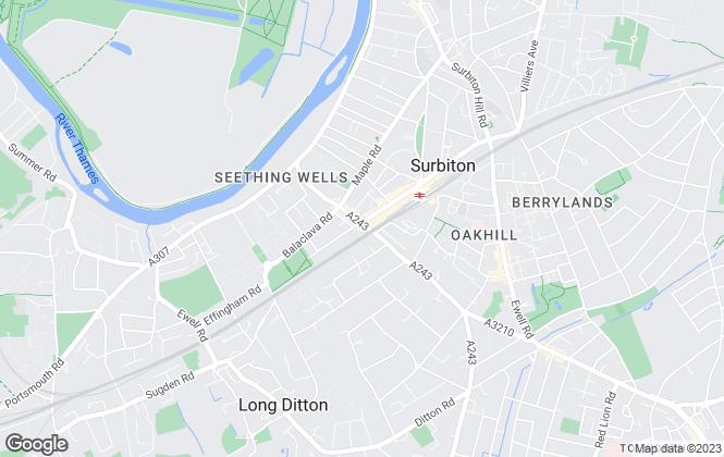 Map for Mahadeo & Co, Surbiton