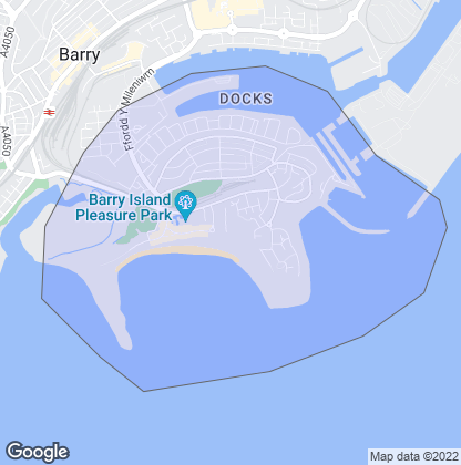 Map of property in Barry Island