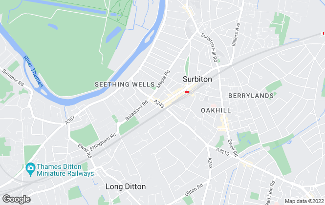 Map for Avery Cole, Surbiton