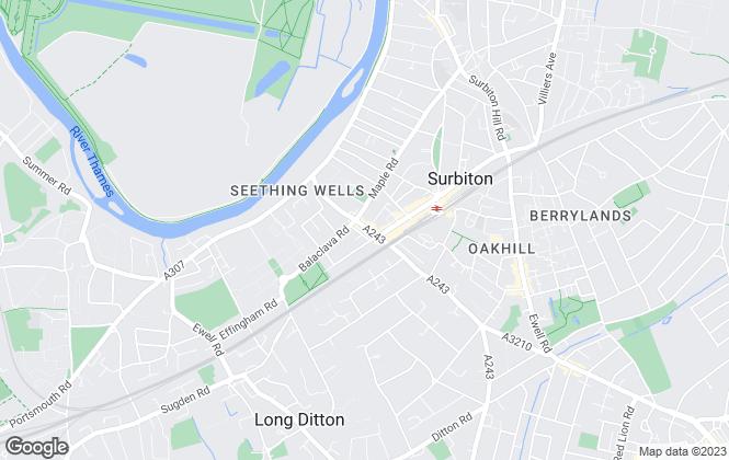 Map for HJC , Surbiton