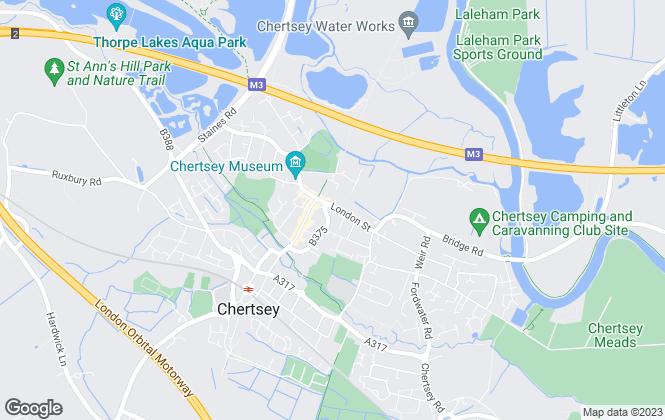 Map for Johnson & jones Ltd, Chertsey